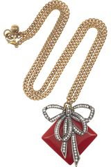 Lulu Frost Crystal and Resin Bow Necklace - Lyst