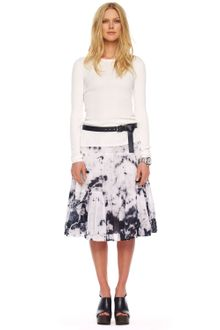 Michael by Michael Kors Tiedye Ruffled Skirt White - Lyst