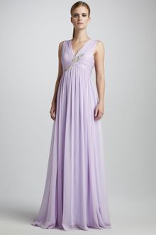 Notte By Marchesa Sleeveless Embroidered Gown - Lyst