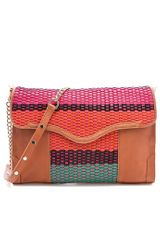 Rebecca Minkoff Colorful Weave Beau Clutch - Lyst
