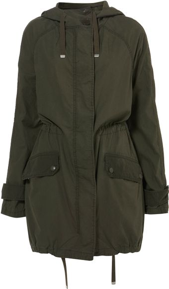 Topshop Unlined Light Weight Parka - Lyst