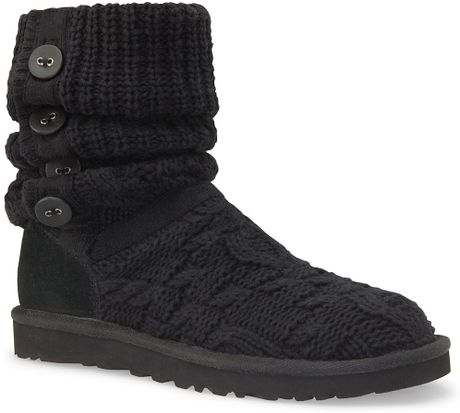 Black Knitted Uggs Boots Ensas