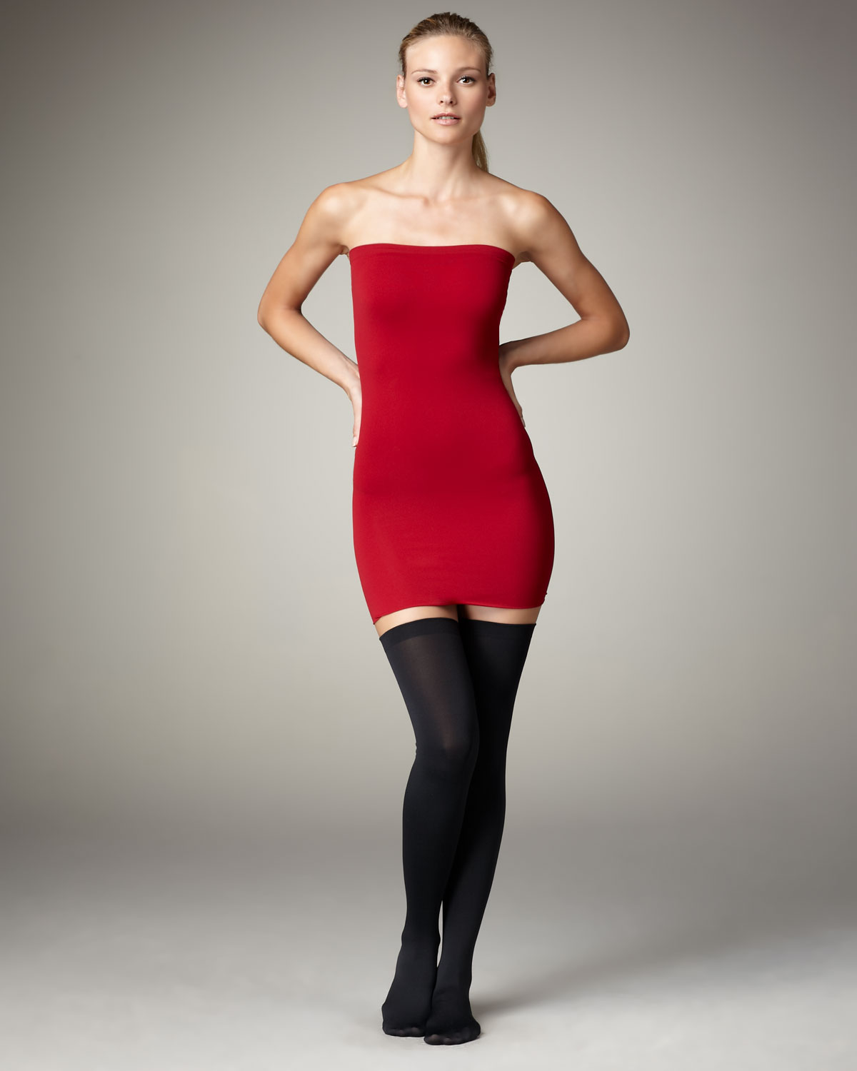Lyst Wolford Fatal Convertible Dress Chianti Red In Red