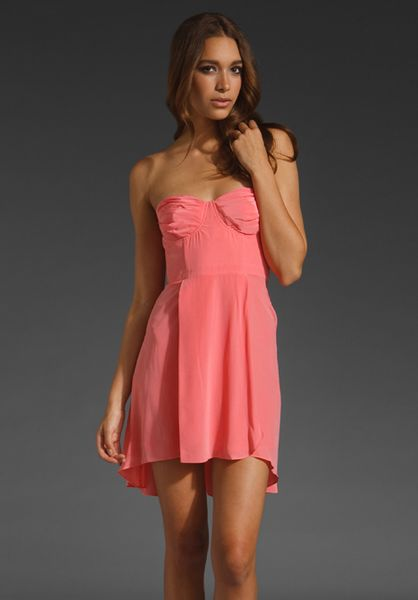 Zimmermann Silk Underwire Dress in Pink (blossom)