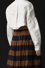 Burberry Prorsum Hound Detail Silk Faille Shirt in White - Lyst