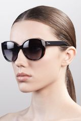 Dior Oversized Rounded Sunglasses Black Havana - Lyst