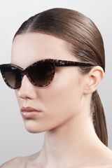 Dior Cat Eye Sunglasses Panther - Lyst