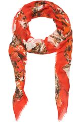 Erdem Rose Wave Scarf in Red (multi) - Lyst