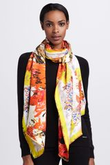 Erdem Botanical Waves Silk Scarf - Lyst