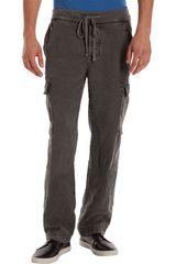 James Perse Drawstring Waist Cargo Trouser - Lyst
