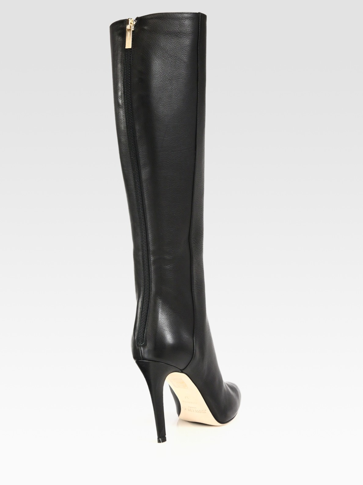 Jimmy choo Glory Leather Knee High Boots in Black | Lyst