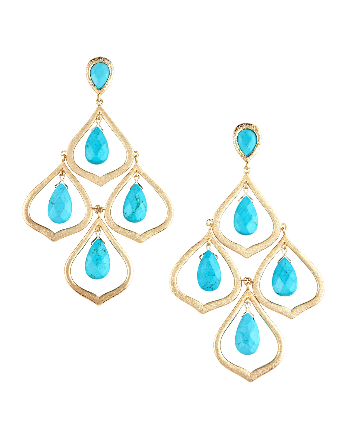 Lyst kendra scott kyle chandelier earrings in blue gallery arubaitofo Images