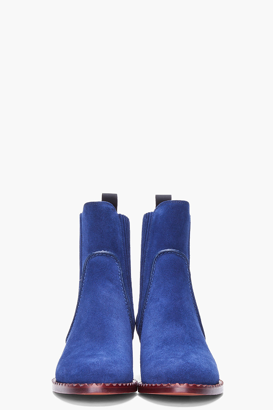 Marc by marc jacobs Blue Suede Chelsea Boots in Blue   Lyst