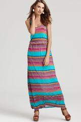 Michael Stars Dress Sunset Stripe Racerback Maxi - Lyst