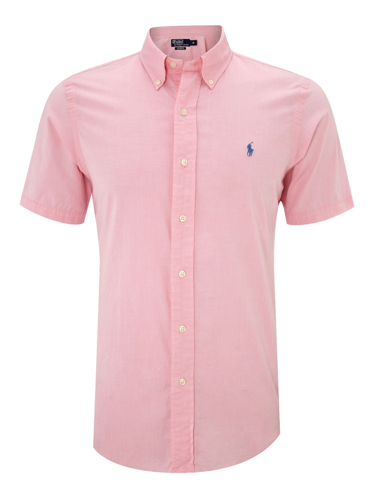 Polo Ralph Lauren Short Sleeved Custon Fitted Shirt In