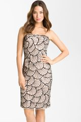 Adrianna Papell Sequin Mesh Sheath Dress - Lyst