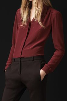 Burberry Prorsum Bow Detail Silk Shirt - Lyst