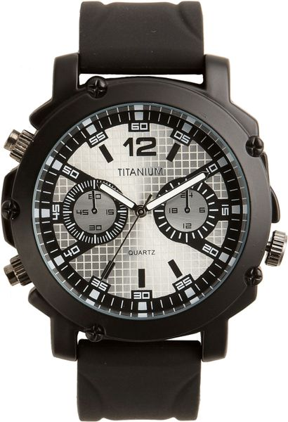 Titanium Neon Marker Analog Watch in Black for Men