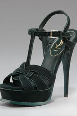 Yves Saint Laurent Tribute Suede Sandal - Lyst