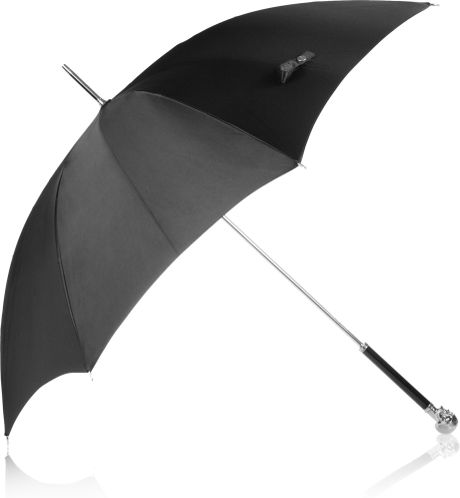 Alexander Mcqueen Large Skullembellished Umbrella in Black