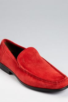 Ferragamo Alan Suede Slipon Shoes - Lyst