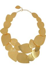 Herve Van Der Straeten 24karat Goldplated Leaf Necklace