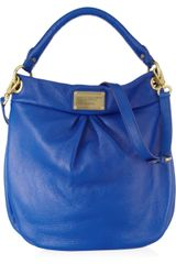 Marc By Marc Jacobs Classic Q Hillier Hobo Texturedleather Shoulder Bag - Lyst