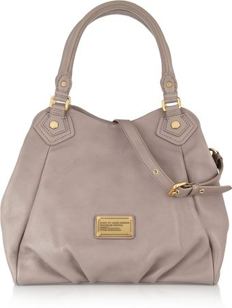Marc By Marc Jacobs Classic Q Fran Texturedleather Shoulder Bag - Lyst