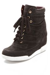 Marc By Marc Jacobs Standard Supply Suede Wedge Sneakers - Lyst