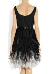 Oscar De La Renta Silk Taffeta Dress in Black - Lyst