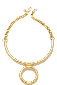 Tory Burch Circle Pendant Necklace - Lyst