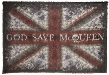 Alexander Mcqueen God Save Mcqueen Pashmina in Multicolor (multi) - Lyst