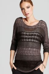 Alice + Olivia Sweater Hayden Dolman Sleeve Metallic - Lyst