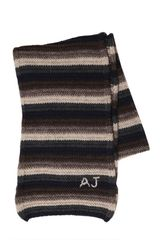 Armani Jeans Striped Wool Knit Scarf - Lyst