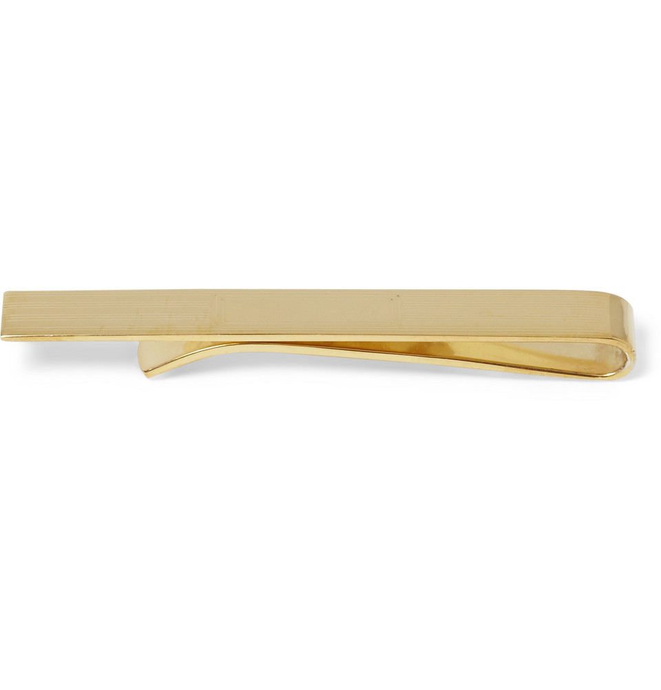 brothers engraved goldplated tie clip in gold for