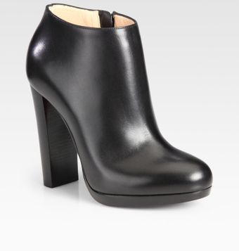Christian Louboutin Leather Woodenheel Platform Ankle Boots - Lyst