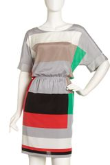 DKNY Colorblock Gatheredwaist Dress - Lyst