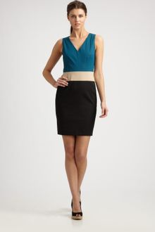 DKNY Colorblock Sheath Dress - Lyst