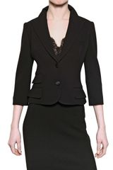 Dolce & Gabbana Wool Stretch Jersey Jacket - Lyst