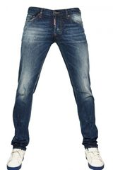 DSquared2 19cm Slim Fit Denim Jeans - Lyst