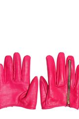 DSquared2 Leather Zipped Half Gloves - Lyst