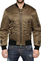 DSquared2 Shiny Nylon Bomber Jacket - Lyst