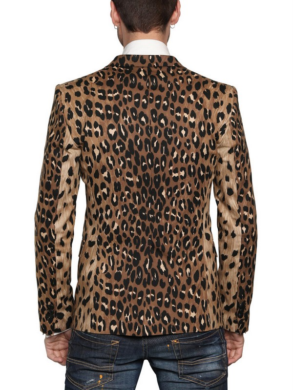 Lyst Dsquared 178 Calfskin Leopard Print Tuxedo Jacket For Men