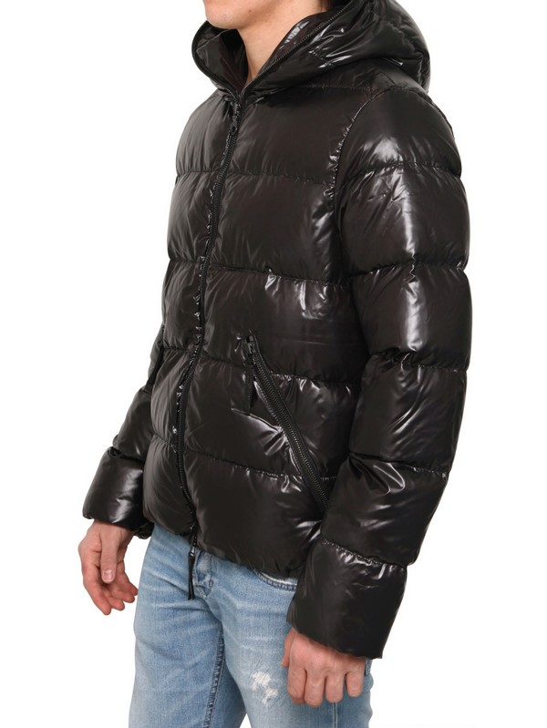 Lyst Duvetica Dioniso Shiny Nylon Down Jacket In Black