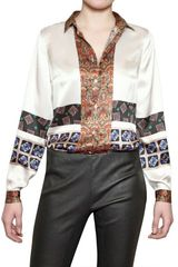 Etro Printed Silk Satin Shirt - Lyst