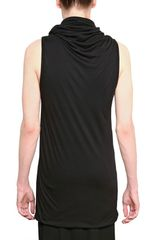 Gareth Pugh Modal Viscose Jersey Sleveless Tshirt in Black for Men - Lyst