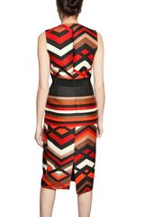 Giambattista Valli Printed Wool Silk Gauze Dress in Multicolor (multi) - Lyst