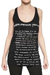 Givenchy Printed Cotton Jersey Tank Top - Lyst