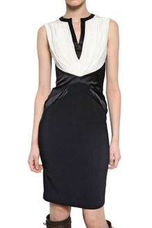 Givenchy Satin On Stretch Viscose Cady Dress - Lyst