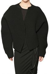 Haider Ackermann Tubular Wool Knit Jacket - Lyst